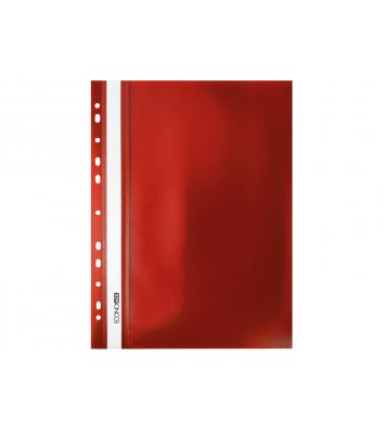 Папка-швидкозшивач А4 з перфорацією, фактура матова червона, Economix