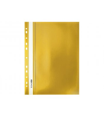 Папка-скоросшиватель А4 с перфорацией, фактура апельсин желтая, Economix