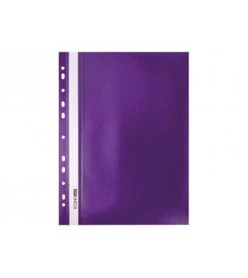 Папка-швидкозшивач А4 з перфорацією, фактура матова фіолетова, Economix