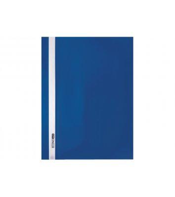 Папка-скоросшиватель А4 без перфорации, фактура апельсин синяя, Economix