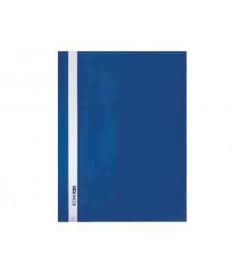 Папка-швидкозшивач А4 без перфорації, фактура матова синя, Economix