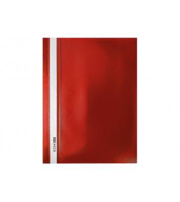 Папка-швидкозшивач А4 без перфорації, фактура матова червона, Economix