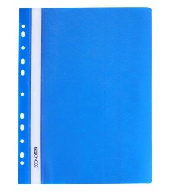 Папка-скоросшиватель А4 с перфорацией, фактура глянец синяя, Economix