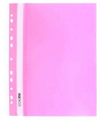 Папка-швидкозшивач А4 з перфорацією, фактура глянець рожева, Economix