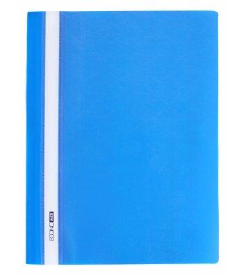 Папка-швидкозшивач А4 без перфорації, фактура глянець синя, Economix