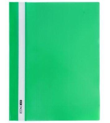 Папка-скоросшиватель А4 без перфорации, фактура глянец зеленая, Economix