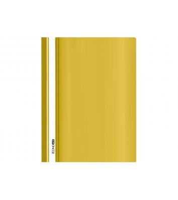 Папка-скоросшиватель А4 без перфорации, фактура глянец желтая, Economix