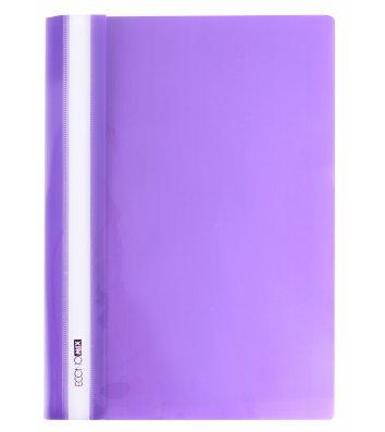 Папка-скоросшиватель А4 без перфорации, фактура глянец фиолетовая, Economix