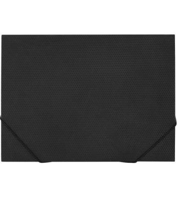 Папка А4 пластикова на гумках чорна, Economix