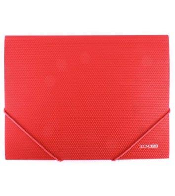 Папка А4 пластиковая на резинках красная, Economix