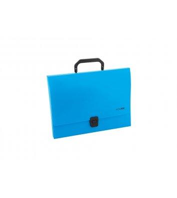 Портфель А4 пластиковий на застібці 1 відділення синій, Economix