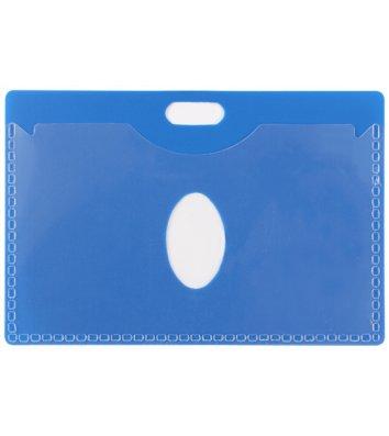 Бейдж  55*90мм горизонтальний синій, Economix