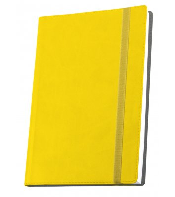 Діловий записник А6 Vivella на гумці жовтий, Optima
