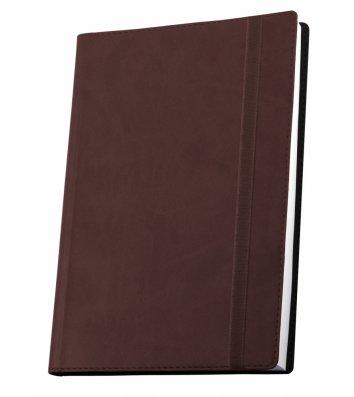 Деловая записная книжка А6 Vivella на резинке коричневая, Optima
