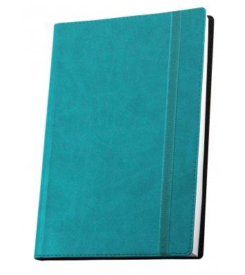 Деловая записная книжка  А5 Vivella на резинке бирюзовая, Optima