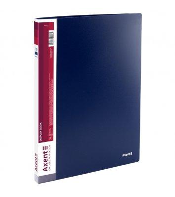 Папка А4 пластиковая с 10 файлами синяя, Axent