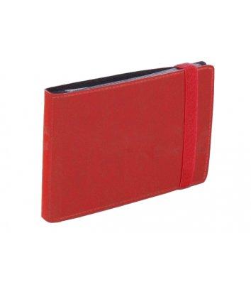 Визитница на 20 визиток на резинке Vivella красная, Optima