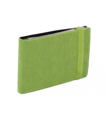 Визитница на 20 визиток на резинке Vivella зеленая, Optima