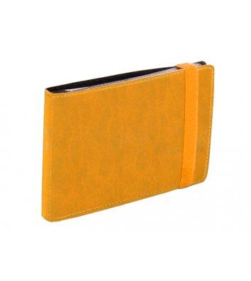 Візитниця на 20 візиток на гумці Vivella жовта, Optima