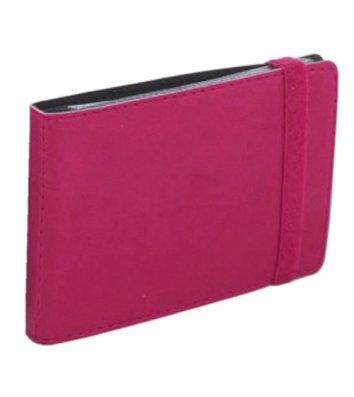 Визитница на 20 визиток на резинке Vivella розовая, Optima