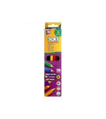"""Карандаши цветные 6шт шестигранные """"Softy"""", Cool for School"""