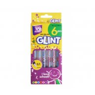 Набір гелевих ручок 6 кольорів з блискітками 0,7мм Glint, Cool For School