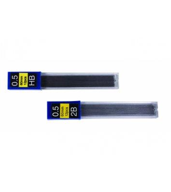 Стрижні до механічного олівця HB 0,5мм 12шт, Economix