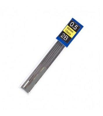 Стержни к механическому карандашу 2B 0,5мм 12шт, Economix