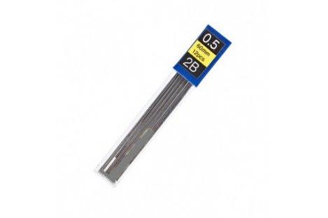 Стрижні до механічного олівця 2B 0,5мм 12шт, Economix