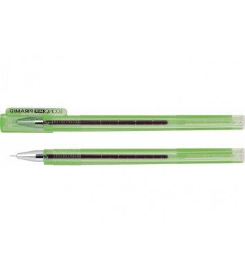 Ручка гелева Piramid, колір чорнил зелений 0,5мм, Economix