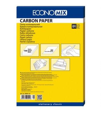 Папір копіювальний А4 100арк чорний, Economix