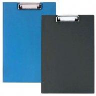 Планшет-папка А4 с прижимом PVC синий, Economix