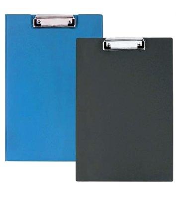 Планшет-папка А4 з притиском PVC синя, Economix