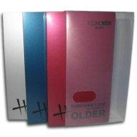 Визитница на 128 визиток пластиковая обложка ассорти, Economix