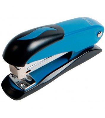 Степлер 20л скобы 24/6, 26/6 металлический корпус синий, Buromax