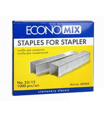Скобы для степлера №23/12 1000шт, Economix