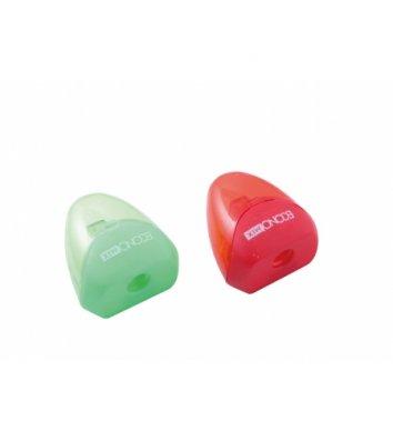 Точилка пластиковая 1 лезвие с контейнером ассорти, Economix