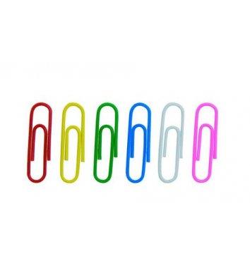 Скрепки 28мм 100шт округлые цветные, Economix