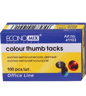 Кнопки кольорові 100шт, Economix