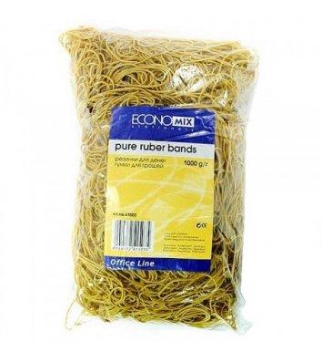 Резинки для денег 1000г желтые, Economix