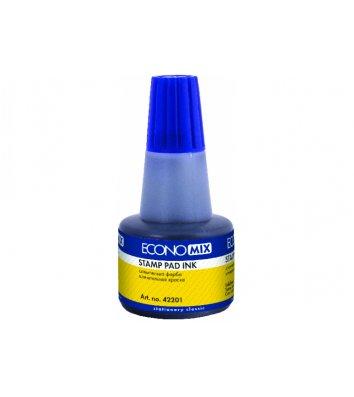 Краска штемпельная 30мл синяя, Economix
