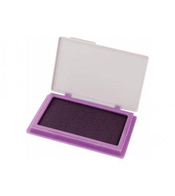 Подушка штемпельна настільна 70*110мм фіолетова, Economix