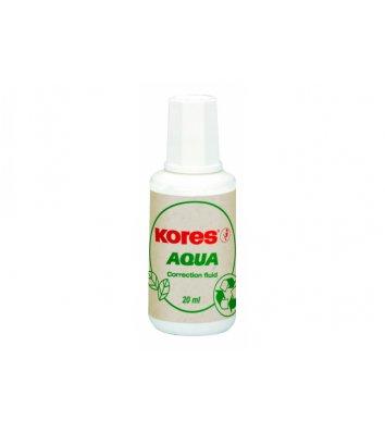 Коректуюча рідина 20мл Aqua з пензликом на водній основі, Kores