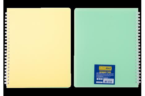 Блокнот B5 96арк клітинка Summer Time, бічна спіраль асорті, Buromax
