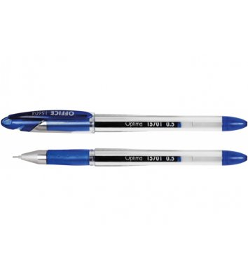 Ручка гелева Office, колір чорнил синій 0.5мм, Optima