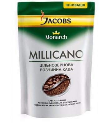 Кофе растворимый Jacobs Monarch Millicano 250г, эконом пакет