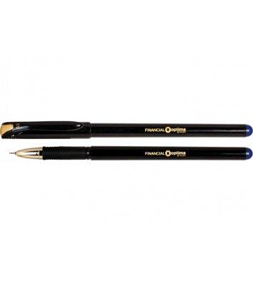 Ручка гелева Financial, колір чорнил синій 0,5мм, Optima