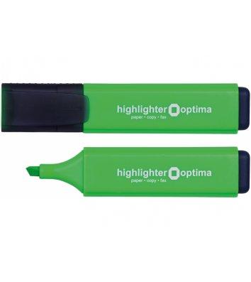 Маркер текстовий, колір чорнил зелений 1-4,5мм, Optima