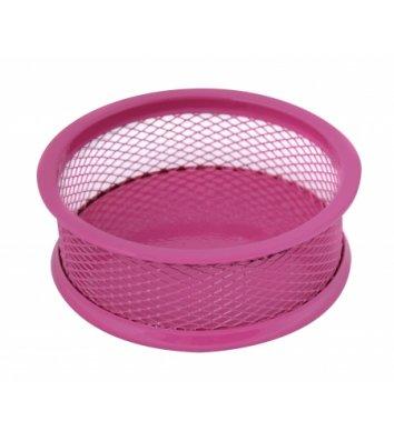 Підставка для скріпок металева рожева, Optima