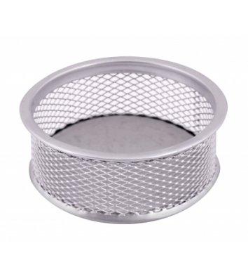 Подставка для скрепок металлическая серебристая, Optima